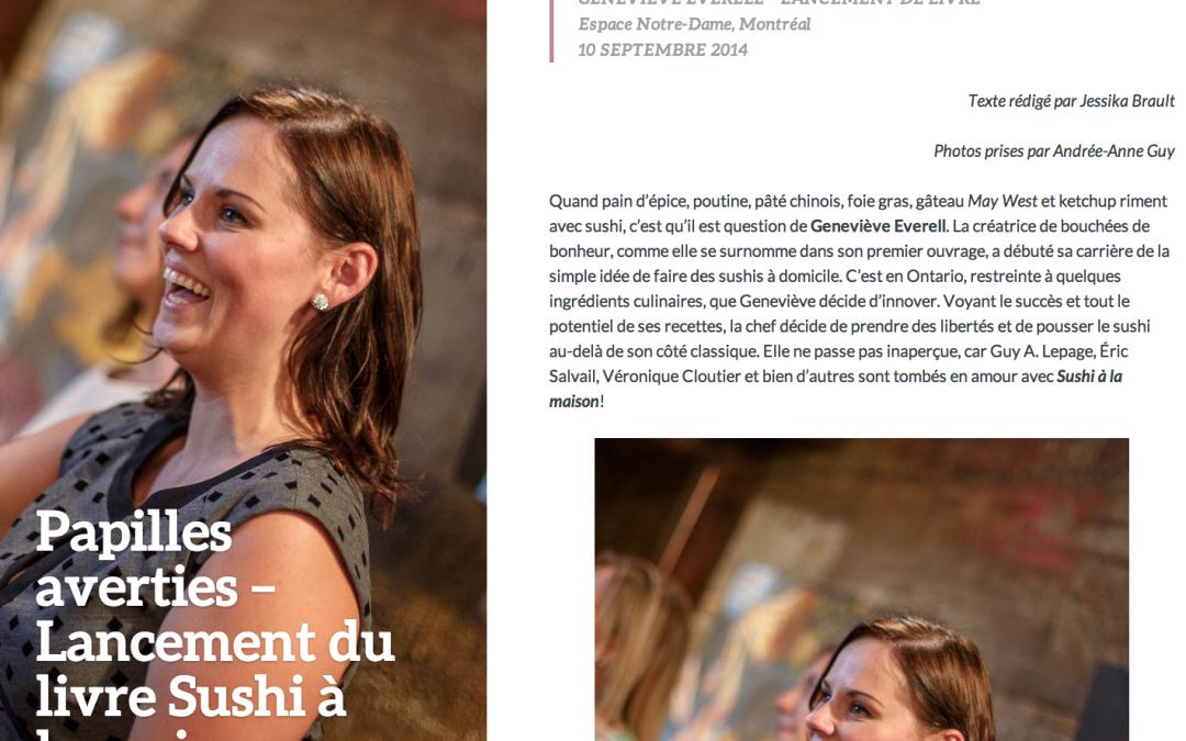 Lancement du livre « Sushi à la maison » dans Tempo Mag
