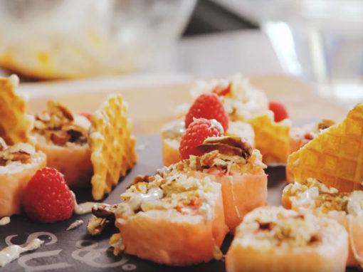 Sushi dessert tarte aux pacanes
