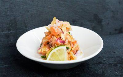 Tartare de saumon croustillant à la lime