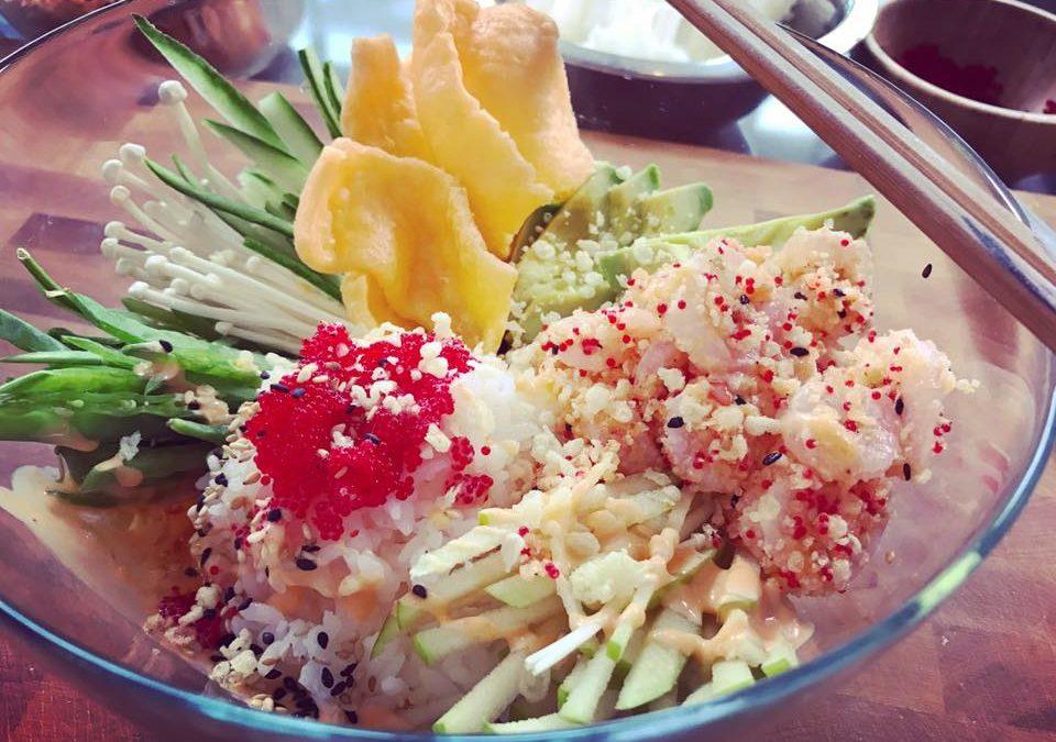 Poke aux crevettes sucrées